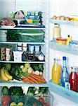 Inside of a fridge Stock Photo - Premium Rights-Managed, Artist: Photocuisine, Code: 825-05812029