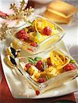 Raspberry and Financier Sabayon gratin Stock Photo - Premium Rights-Managed, Artist: Photocuisine, Code: 825-05812071