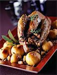 Roast duck with apple stuffing Stock Photo - Premium Rights-Managed, Artist: Photocuisine, Code: 825-05812355
