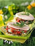 Italian-style pita Stock Photo - Premium Rights-Managed, Artist: Photocuisine, Code: 825-05812367