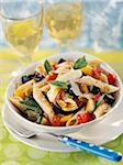 Penne with southern vegetables Stock Photo - Premium Rights-Managed, Artist: Photocuisine, Code: 825-05812402