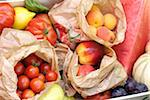 Bags of fruit and vegetables Stock Photo - Premium Rights-Managed, Artist: Photocuisine, Code: 825-05812463