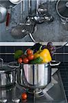 Cooking pot full of raw vegetables Stock Photo - Premium Rights-Managed, Artist: Photocuisine, Code: 825-05812544