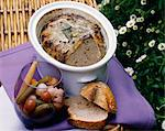 Rabbit liver and white wine terrine Stock Photo - Premium Rights-Managed, Artist: Photocuisine, Code: 825-05813040