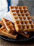 Waffles with sugar Stock Photo - Premium Rights-Managed, Artist: Photocuisine, Code: 825-05814308