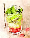 Raspberry and mint Mojito Stock Photo - Premium Rights-Managed, Artist: Photocuisine, Code: 825-05814865