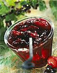Cherry and blackcurrant jam Stock Photo - Premium Rights-Managed, Artist: Photocuisine, Code: 825-05814880