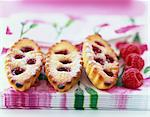 Fresh raspberry Financiers Stock Photo - Premium Rights-Managed, Artist: Photocuisine, Code: 825-05815311