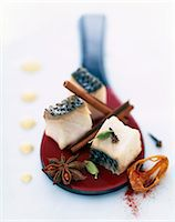 Pan-fried Mediterranean bass with yoghurt Stock Photo - Premium Rights-Managednull, Code: 825-05815323