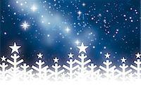 snowflakes  holiday - Winter night Stock Photo - Premium Royalty-Freenull, Code: 632-05817189