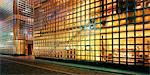 House made of glass bricks, illuminated Stock Photo - Premium Royalty-Freenull, Code: 628-05817402