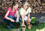 Mother and daughter working in the garden Stock Photo - Premium Royalty-Free, Artist: CulturaRM, Code: 628-05817501