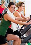 Two women exercising at a health club Stock Photo - Premium Royalty-Freenull, Code: 628-05817572