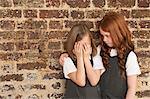 Girl comforting her friend Stock Photo - Premium Royalty-Free, Artist: CulturaRM, Code: 614-05818919