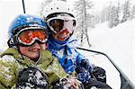 Snow-covered children in ski lift Stock Photo - Premium Royalty-Free, Artist: Cultura RM, Code: 649-05819577