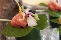 Close up of ornate piece of sushi Stock Photo - Premium Royalty-Freenull, Code: 649-05819601