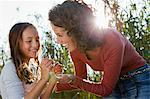 Mother and daughter talking outdoors Stock Photo - Premium Royalty-Free, Artist: Siephoto, Code: 649-05819863