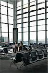 Business People in Waiting Area of Airport Stock Photo - Premium Rights-Managed, Artist: Michael Mahovlich, Code: 700-05821762