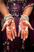 Bride with Henna on Hands Stock Photo - Premium Rights-Managednull, Code: 700-05821804