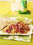Spinach Roti and Slaw Stock Photo - Premium Rights-Managed, Artist: Michael Alberstat, Code: 700-05821911