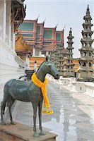 southeast asian - Horse Statue, Wat Suthat, Bangkok, Thailand Stock Photo - Premium Rights-Managednull, Code: 700-05821919