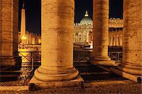 Saint Peter's Basilica Colonnade, Saint Peter's Square, Vatican City, Rome, Italy Stock Photo - Premium Rights-Managednull, Code: 700-05821973