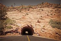rugged landscape - Tunnel near East Entrance, Zion National Park, Utah, USA Stock Photo - Premium Royalty-Freenull, Code: 600-05822076