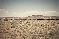 Freight Train, Route 66, New Mexico, USA Stock Photo - Premium Royalty-Freenull, Code: 600-05822086