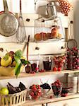 Fruit on kitchen shelves Stock Photo - Premium Rights-Managed, Artist: Photocuisine, Code: 825-05835802