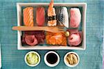 Assorted sushis