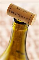 Cork on the top of the bottle Stock Photo - Premium Rights-Managednull, Code: 825-05836549