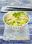 Warm beansprout and celery salad Stock Photo - Premium Rights-Managed, Artist: Photocuisine, Code: 825-05837098