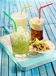 Lime,lemon and coffee granitas Stock Photo - Premium Rights-Managed, Artist: Photocuisine, Code: 825-05837116