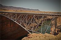 Navajo Bridge crossing over the Colorado River's Marble Canyon near Lee's Ferry, Arizona, USA Stock Photo - Premium Royalty-Freenull, Code: 600-05837325