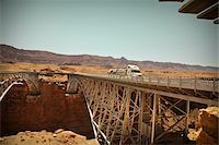 Navajo Bridge crossing over the Colorado River's Marble Canyon near Lee's Ferry, Arizona, USA Stock Photo - Premium Royalty-Freenull, Code: 600-05837330