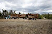 Logging Truck Stock Photo - Premium Rights-Managednull, Code: 700-05837594