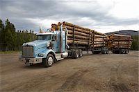 Logging Truck Stock Photo - Premium Rights-Managednull, Code: 700-05837596