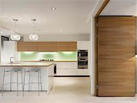 Modern kitchen, Private House, Worsley. Architects: Stephenson Bell Stock Photo - Premium Rights-Managednull, Code: 845-05837750