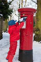 Posting a letter to Santa, England. Stock Photo - Premium Rights-Managednull, Code: 845-05837986