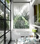 Double Height House Extension creating new Dining Room in Islington House by Dominic McKenzie. Architects: Dominic McKenzie Stock Photo - Premium Rights-Managed, Artist: Arcaid, Code: 845-05838279