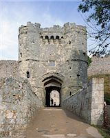 Carisbrooke Castle. View of the Gatehouse from the West. Stock Photo - Premium Rights-Managednull, Code: 845-05839381