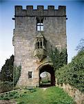 Marmion Tower. Exterior view of gatehouse showing oriel window. Stock Photo - Premium Rights-Managed, Artist: Arcaid, Code: 845-05839427