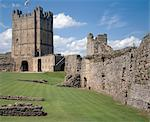 Richmond Castle. View of the Keep from the Great Court. Stock Photo - Premium Rights-Managed, Artist: Arcaid, Code: 845-05839451