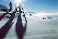 sports and snowboarding - Skiers and snowboarders Stock Photo - Premium Rights-Managednull, Code: 853-05840914