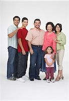 Portrait of a group of people smiling Stock Photo - Premium Royalty-Freenull, Code: 6106-05843551