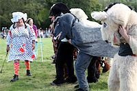 Pantomime horse race with Dame as starter, Widecombe Fair, Dartmoor, Devon, England, United Kingdom, Europe Stock Photo - Premium Rights-Managednull, Code: 841-05845748