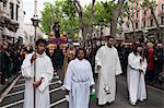 Holy Week Procession, La Rambla, Barcelona, Catalonia, Spain, Europe Stock Photo - Premium Rights-Managed, Artist: Robert Harding Images, Code: 841-05846188