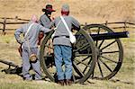 Civil War re-enactment at Fort Tejon State Historic Park, Lebec, Kern County, California, United States of America, North America