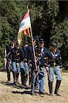 Civil War re-enactment at Fort Tejon State Historic Park, Lebec, Kern County, California, United States of America, North America Stock Photo - Premium Rights-Managed, Artist: Robert Harding Images, Code: 841-05846298