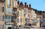 Houses on the quayside, Vieux Port harbour, St. Tropez, Var, Provence, Cote d'Azur, France, Europe Stock Photo - Premium Rights-Managed, Artist: Robert Harding Images, Code: 841-05846395